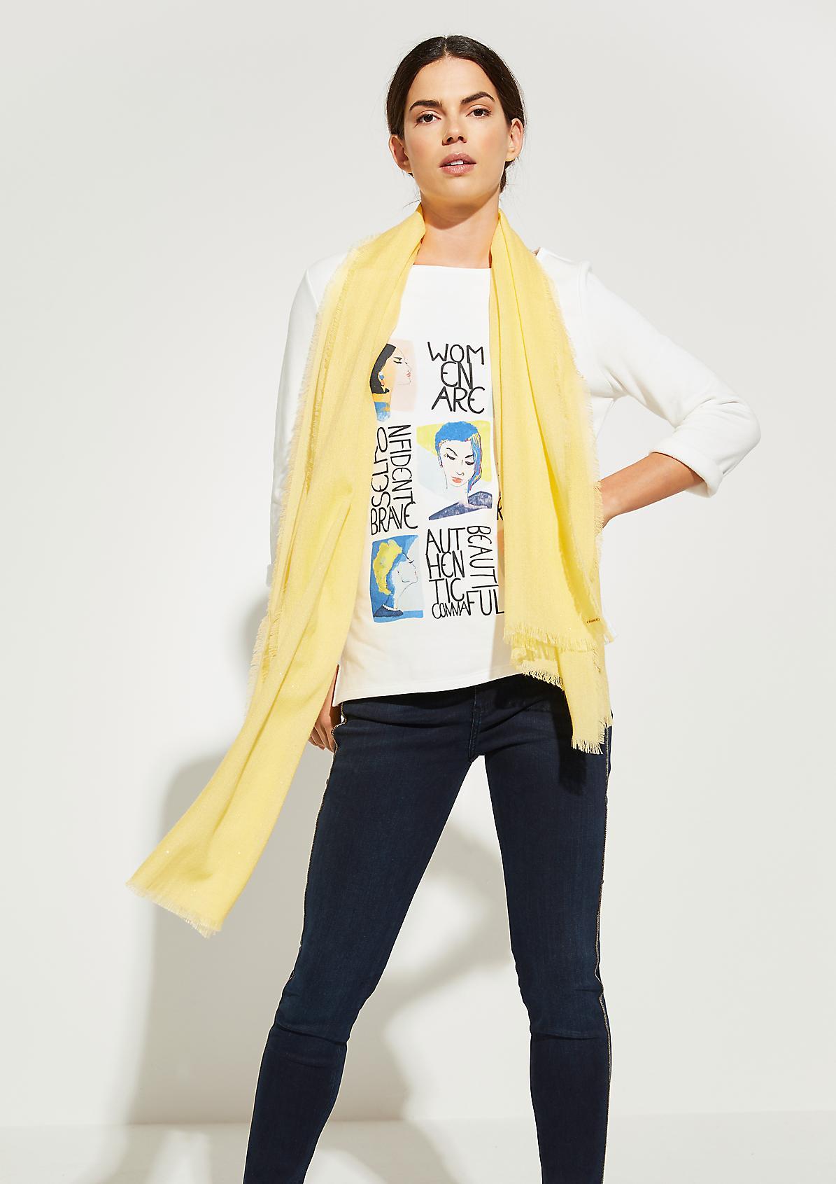 Softer Schal mit Glitzereffekt