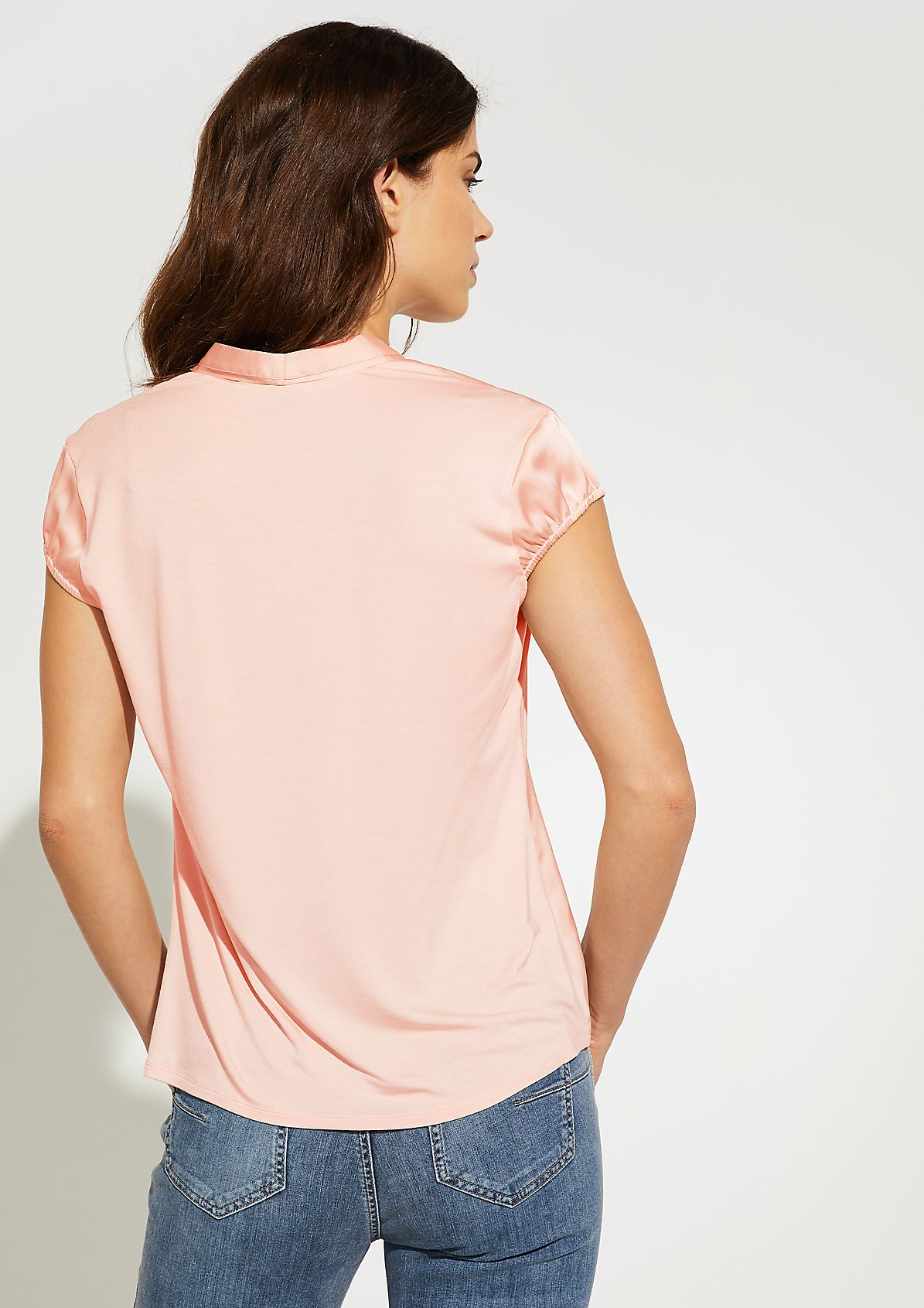 Blouse top with satin front from comma