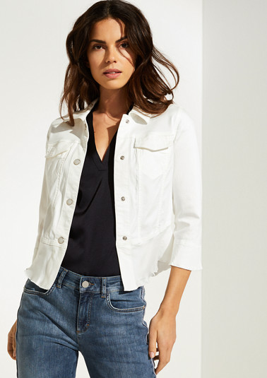 Satin jacket with peplum from comma
