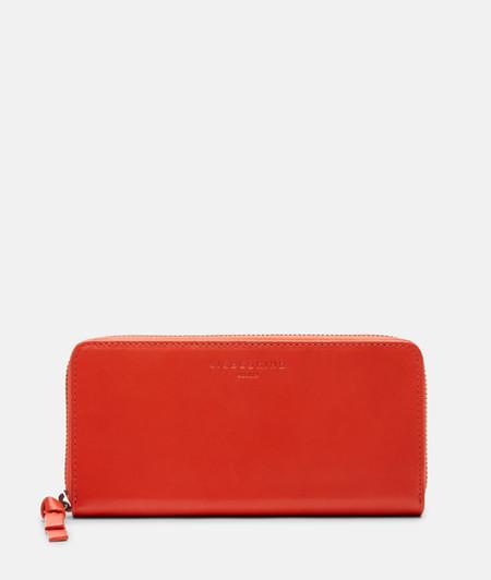 große Brieftasche mit schlichter Verarbeitung