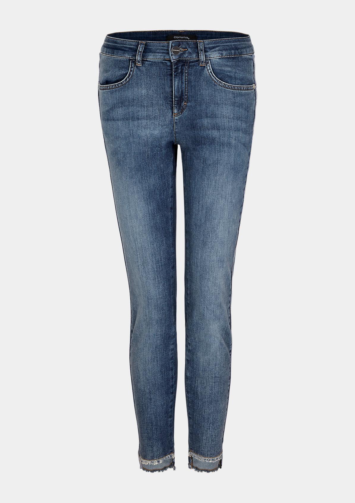 Regular Fit: Jeans mit Schmuck-Detail