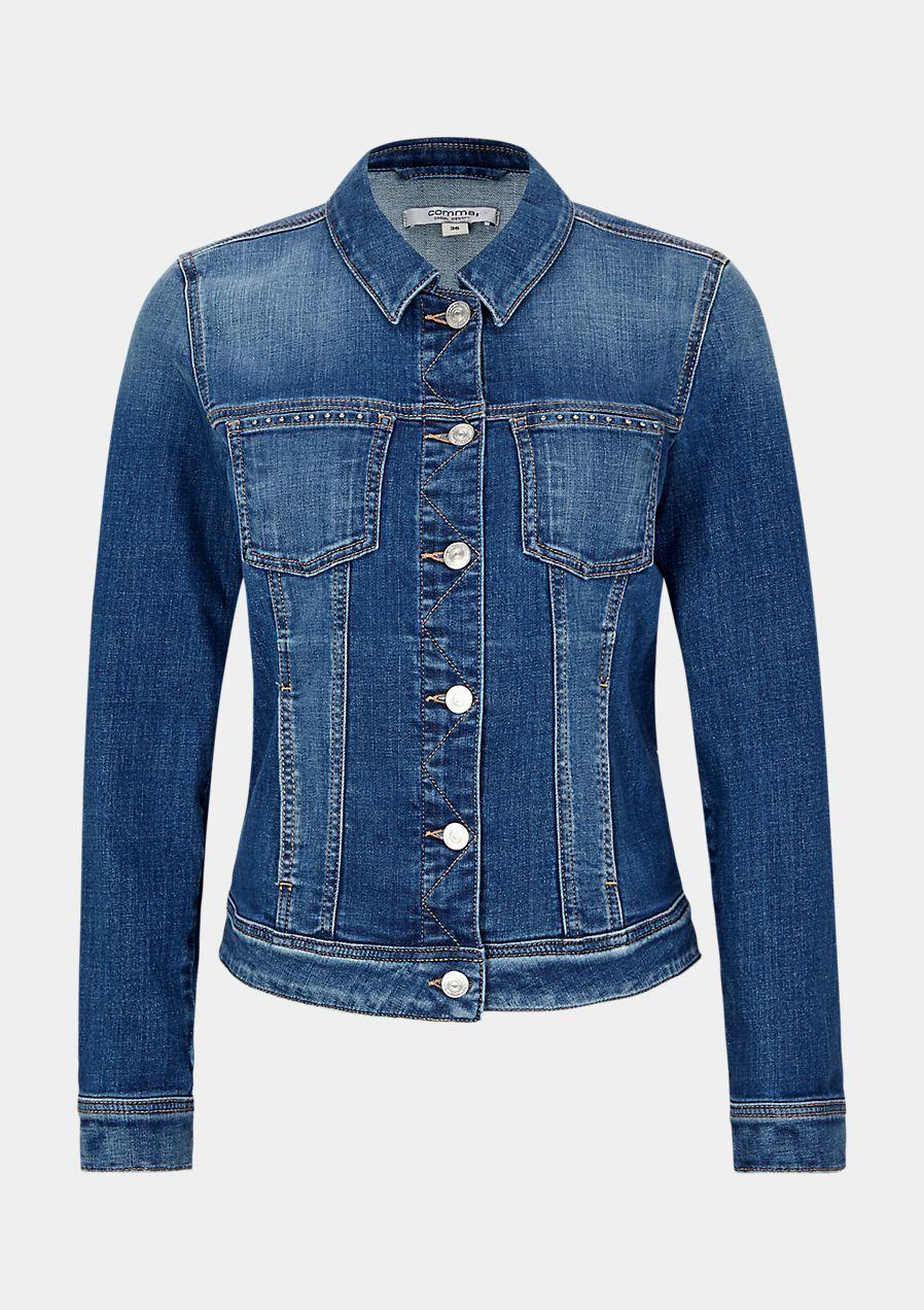 jeans jacke mit lobster von comma