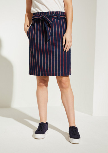Denim skirt with a frilled waistband from comma