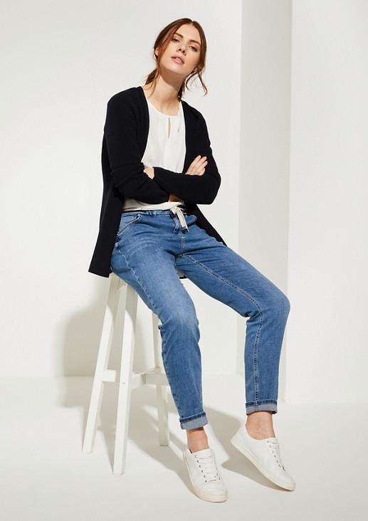 Relaxed Fit: Jeans mit Tunnelzugbund
