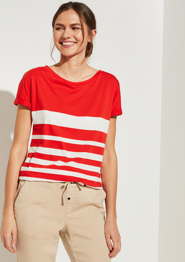T-shirt with stripes from comma