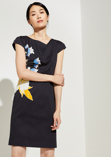 Cotton satin dress from comma