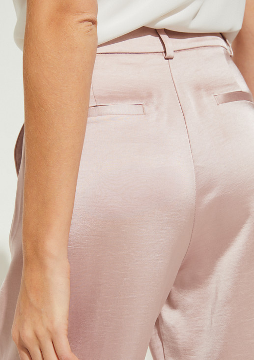 Relaxed Fit: Wide leg-Hose aus Satin