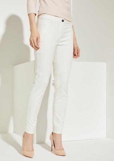 Slim Fit: Slim leg-Shiny Pants