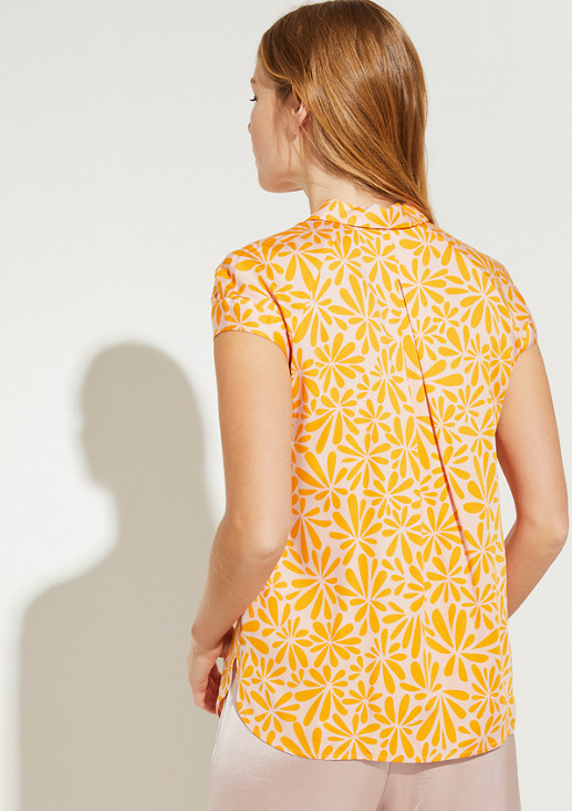 Short sleeve blouse with a floral pattern from comma