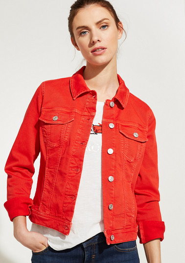 Coloured denim jacket from comma