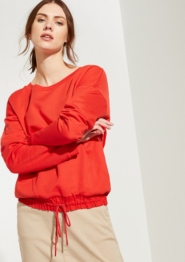 Sweatshirt with frilled hem from comma