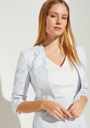 Short blazer made of jacquard from comma
