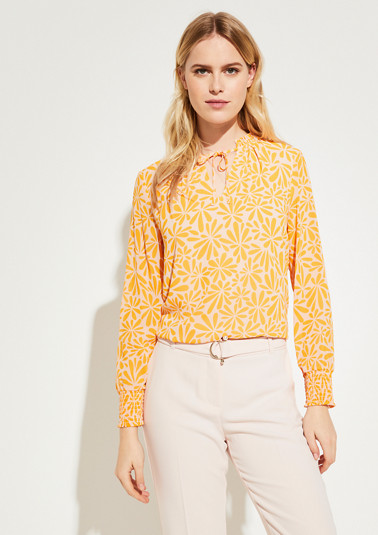 Blouse with a tunic neckline from comma