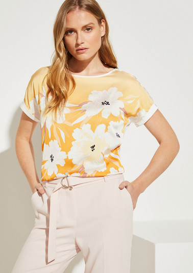 Jerseyshirt mit Satinfront