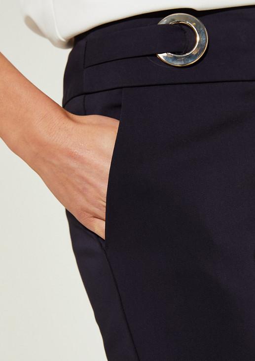 Slim Fit: Hose mit goldfarbenen Ringen