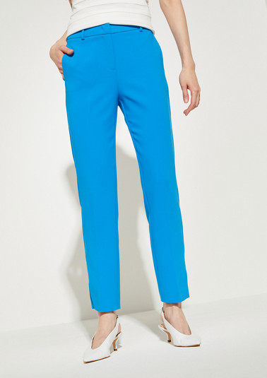 Regular Fit: tapered ankle-length trousers from comma