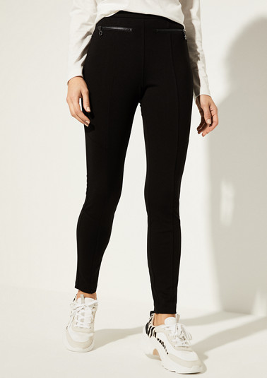 Skinny Fit: Skinny ankle leg-Pants made of jersey from comma