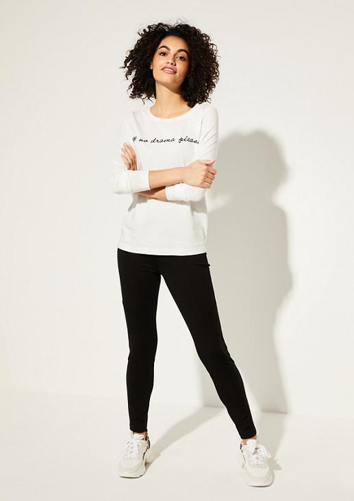 Skinny Fit: Skinny ankle leg-Hose aus Jersey