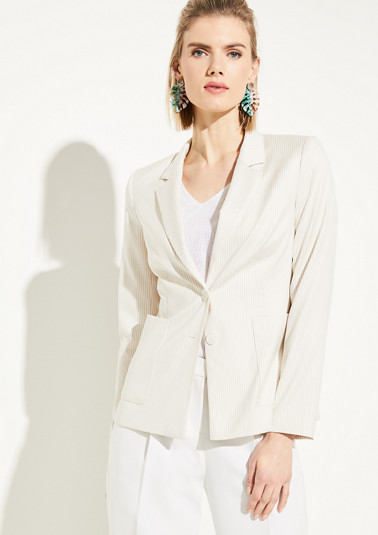 Blazer with a striped pattern from comma