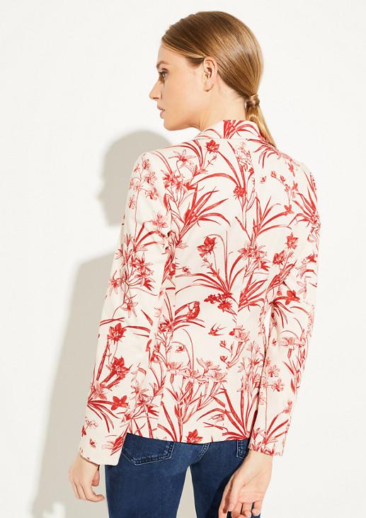 Blazer mit Tropical-Muster