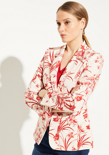 Blazer with a tropical pattern from comma