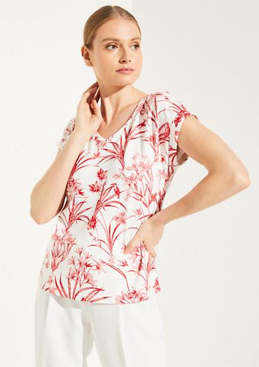 T-Shirt mit Binde-Detail hinten