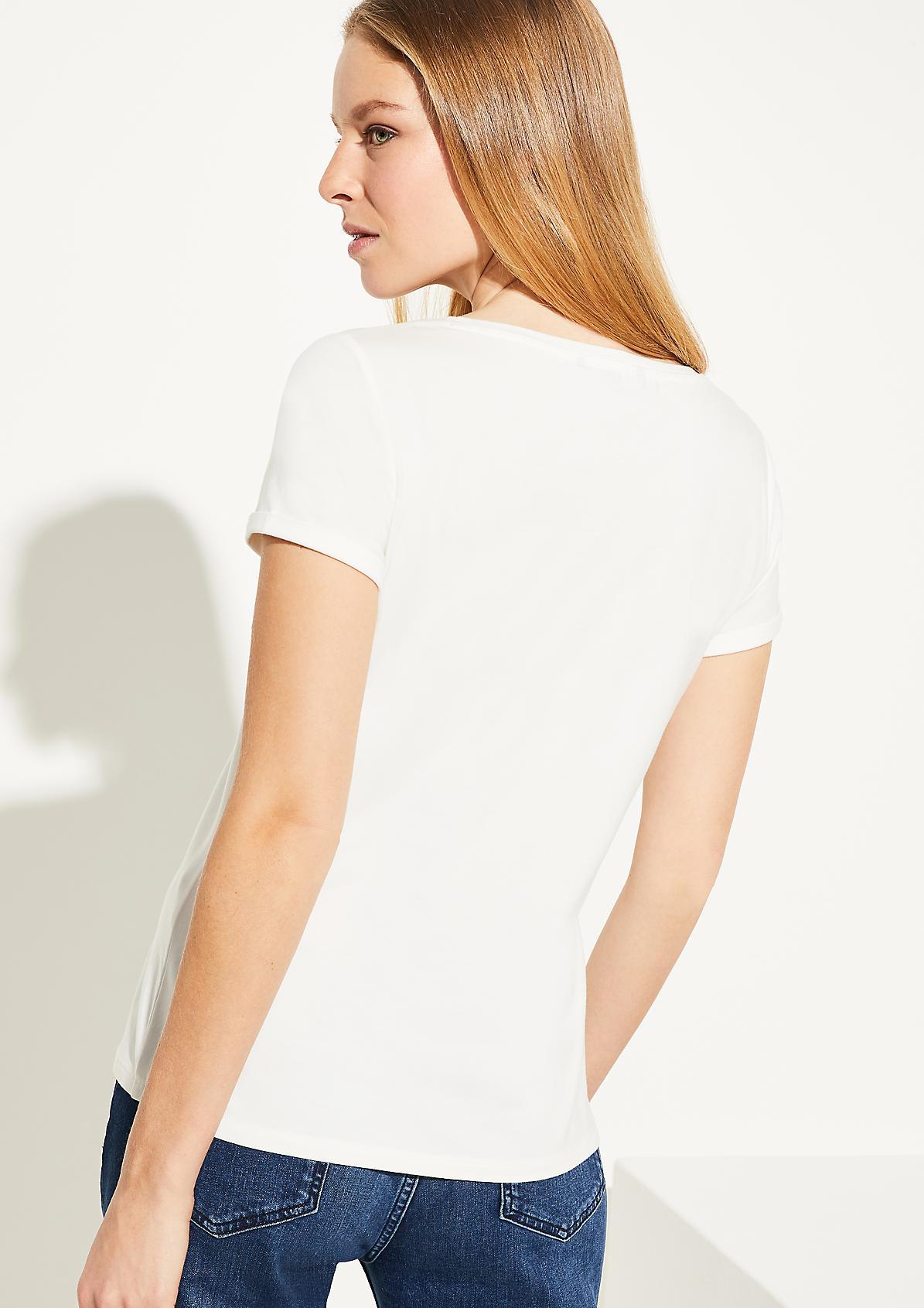 T-Shirt mit Schmuckstein-Applikation