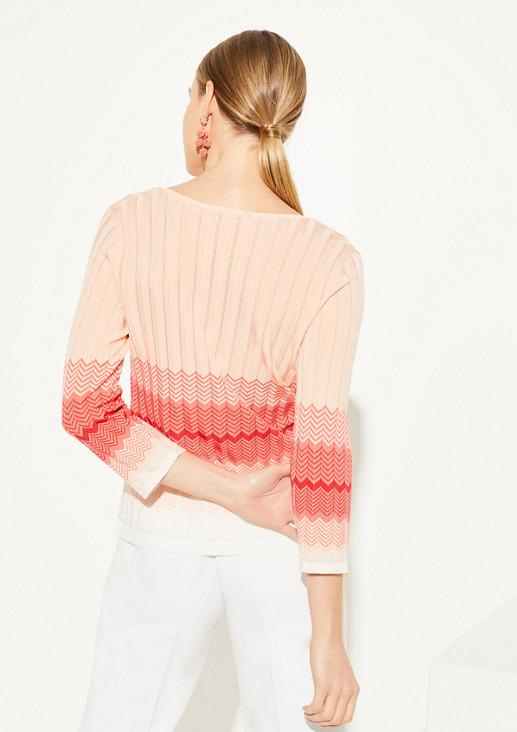 Zick-Zack-Pullover aus Strick