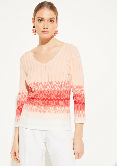Zigzag jumper made of knit from comma