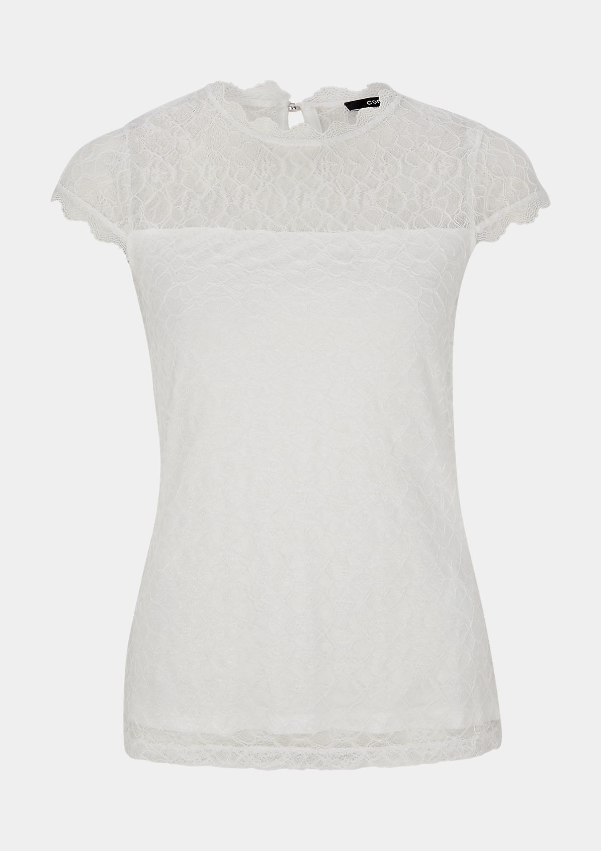 T-Shirt aus zarter Spitze
