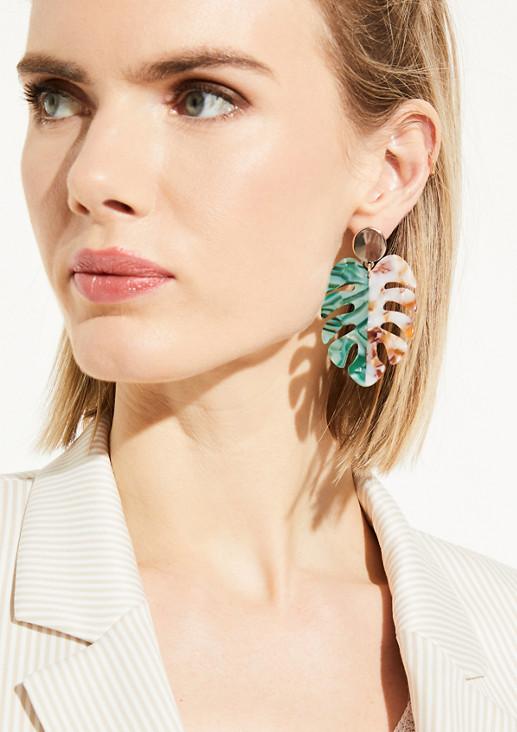 Ohrringe in Naturstein-Optik