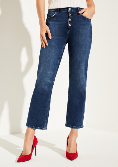 Slim fit: straight leg cropped jeans from comma