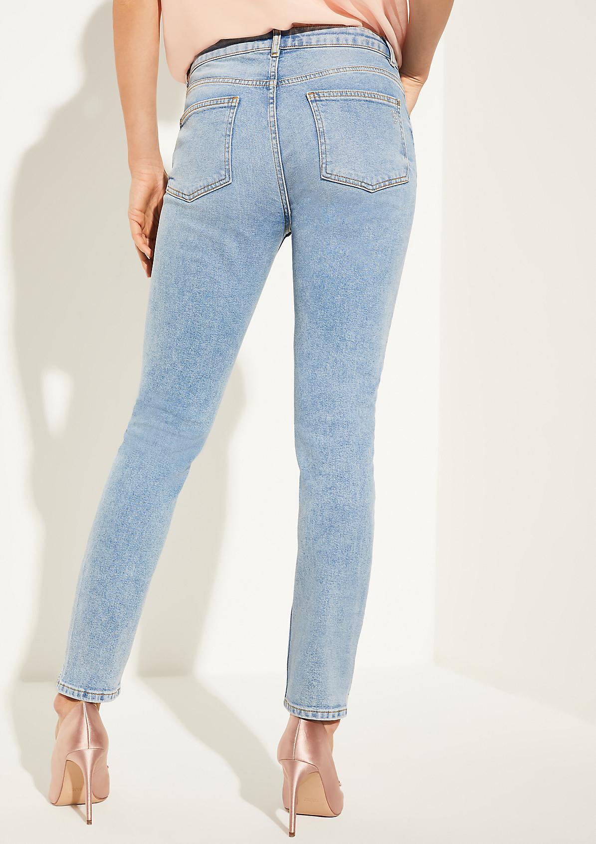 Slim Fit: Jeans mit Swarovski® Kristallen