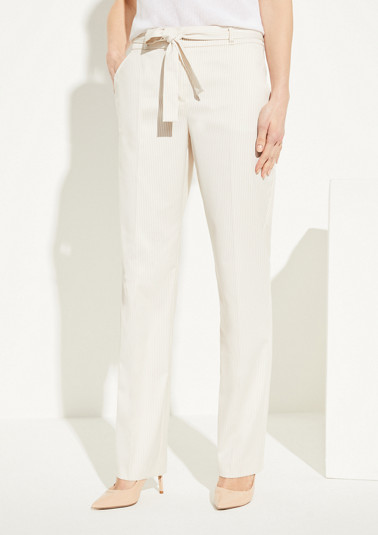 Trousers with a tie-around belt from comma