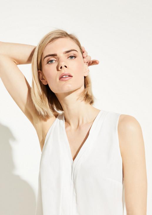 Bluse mit Einsatz im Layer-Look