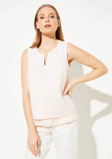 Layered top in a ribbed look from comma