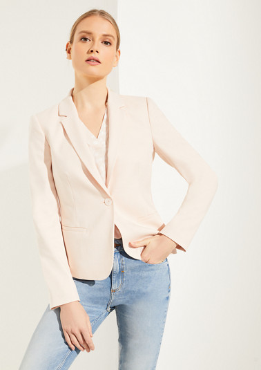 Blazer with a piped side seam from comma