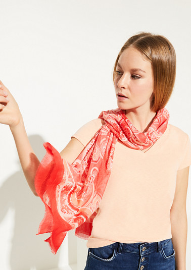 Leichter Schal mit Allover-Print
