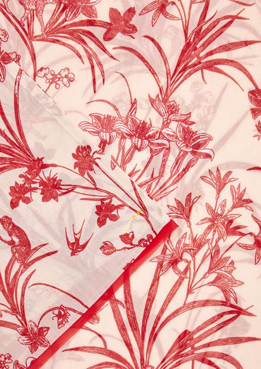 Schlauchschal mit Blumenmuster