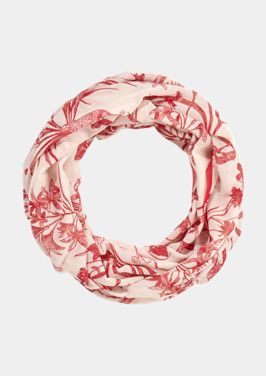 Snood with a floral pattern from comma