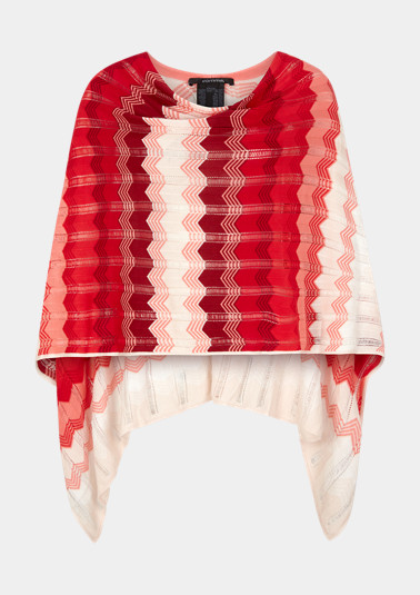 Zigzag poncho made of lightweight knit from comma