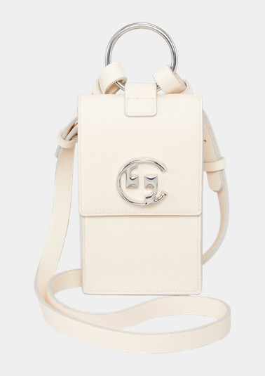 Smartphone bag with a logo detail from comma