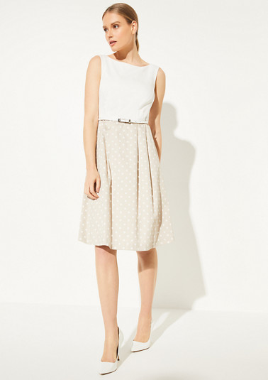 Dress with a flared skirt from comma