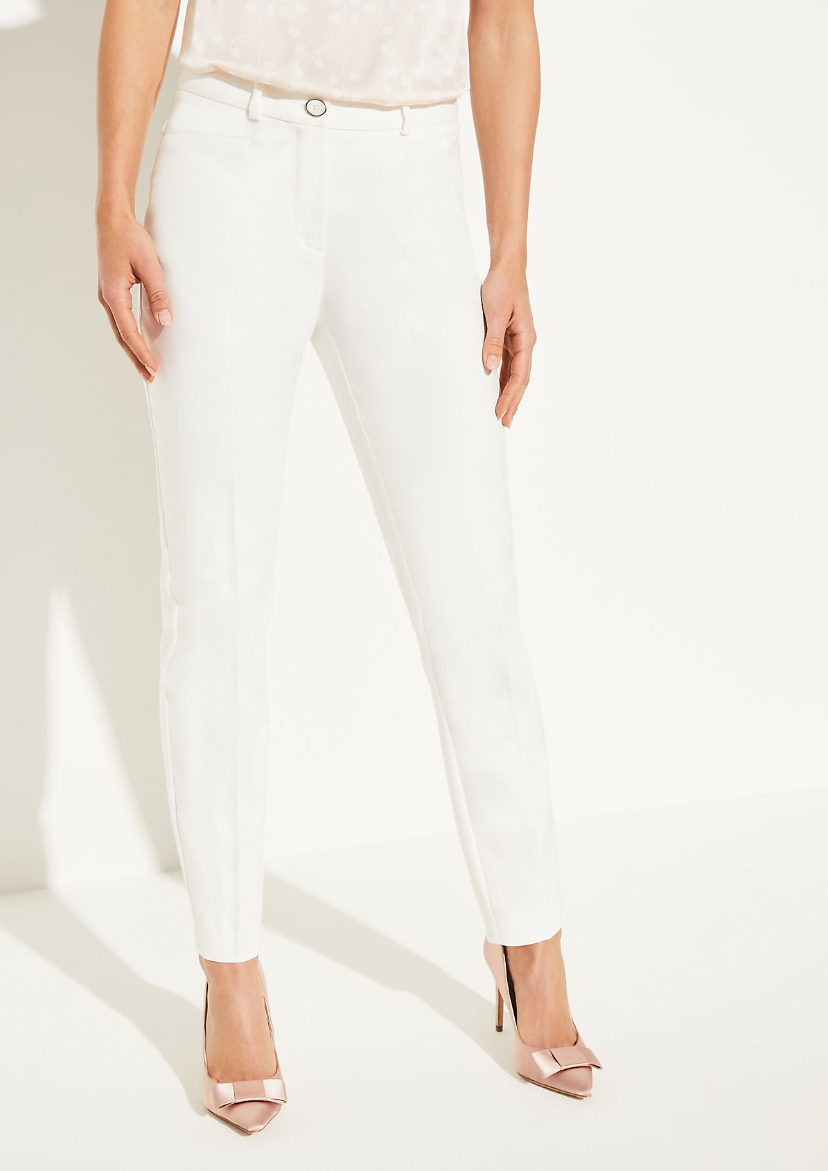 Regular Fit: Pressed pleat trousers from comma
