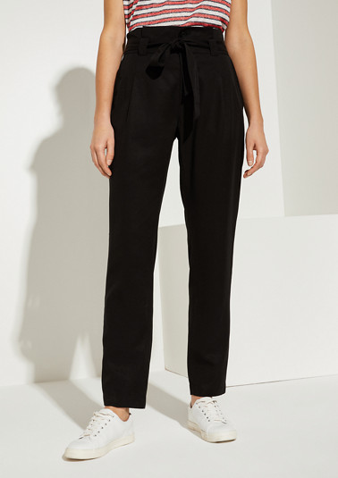 Loose Fit: Blended linen trousers from comma