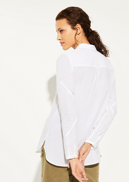 Bluse mit Broderie Anglaise