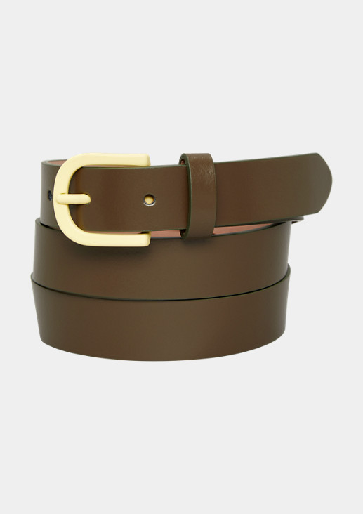 Leather belt with a neon buckle from comma