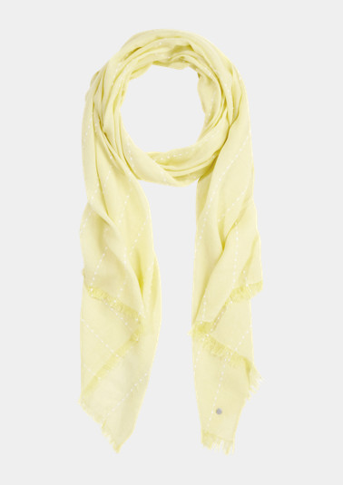 Scarf with a woven pattern from comma