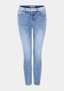 Skinny Fit: Stretchjeans mit Waschung