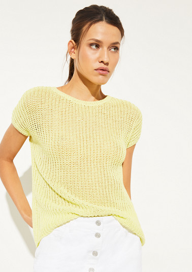 Short sleeve chunky knit jumper from comma